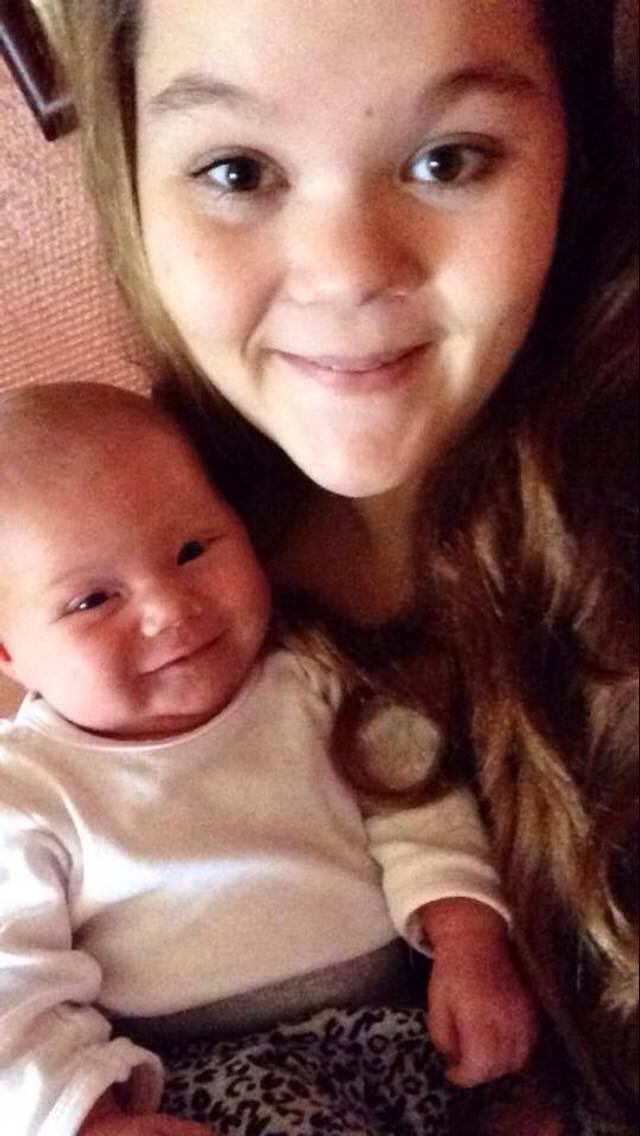 Ann Sofie med sin lille datter